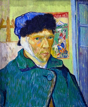 Self-portrait with Bandaged Ear, by Vincent van Gogh, ... the artist epitomises the trope of the dysfunctional, chaotic genius.