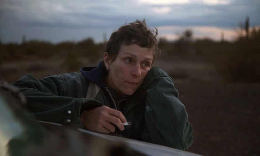 Frances McDormand as Fern in Nomadland.