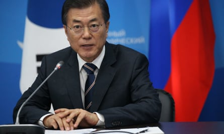 South Korean president Moon Jae-is committed to building up the nation's military.