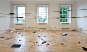 Kishio Suga's installation Left-Behind Situation, 1972/2016.