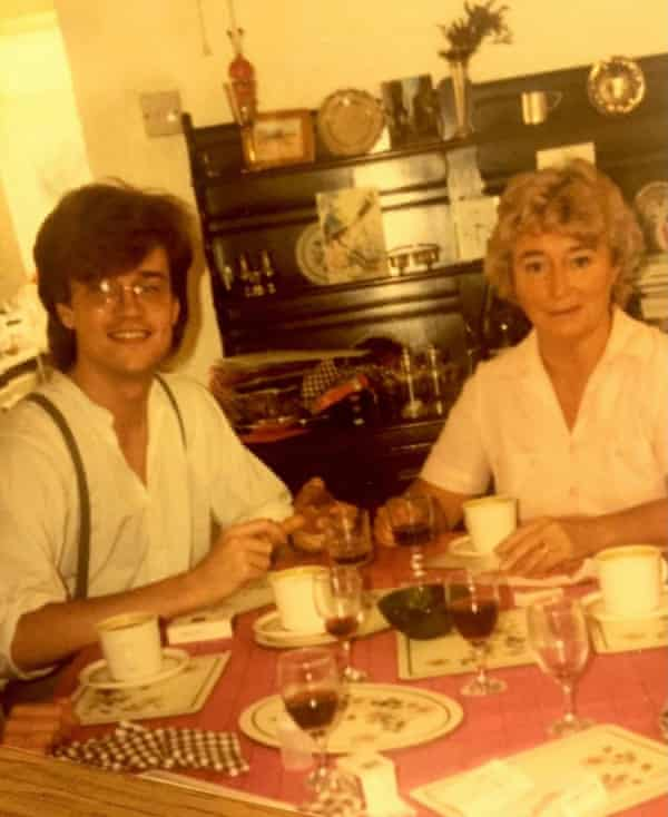 Davies with his mother, Barbara, in 1982.