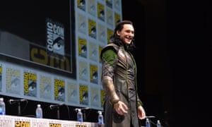 Tom Hiddleston as Loki during Marvel's 'Thor: The Dark World' presentation at Comic-Con 2013 in San Diego, California.