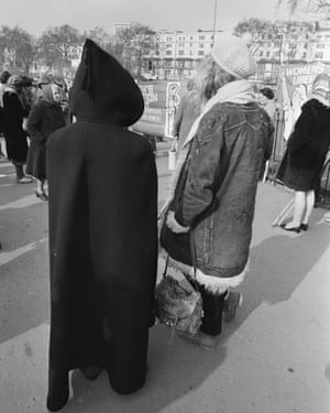 JH: 'Miss Germaine Greer, author of the best-selling book The Female Eunuch was there, too, though marching anonymously in a great black monk's habit'