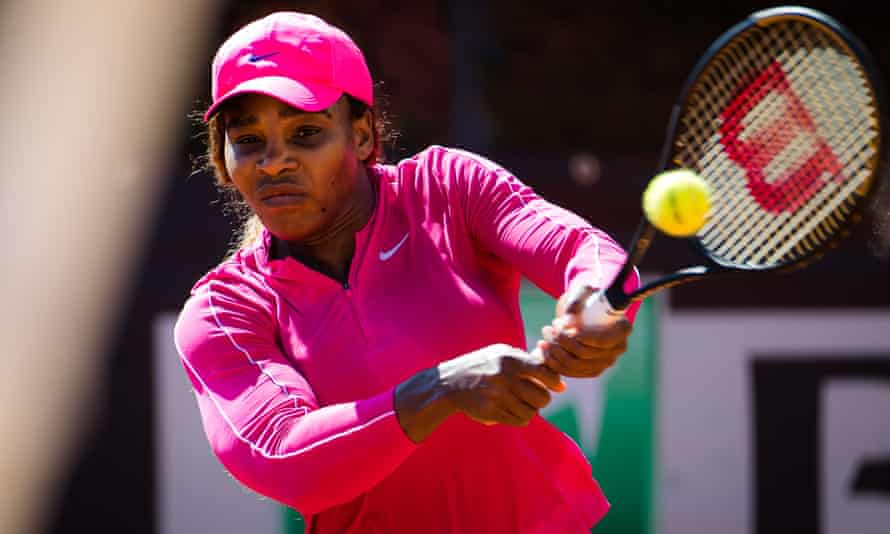 Serena Williams during practice in Rome.
