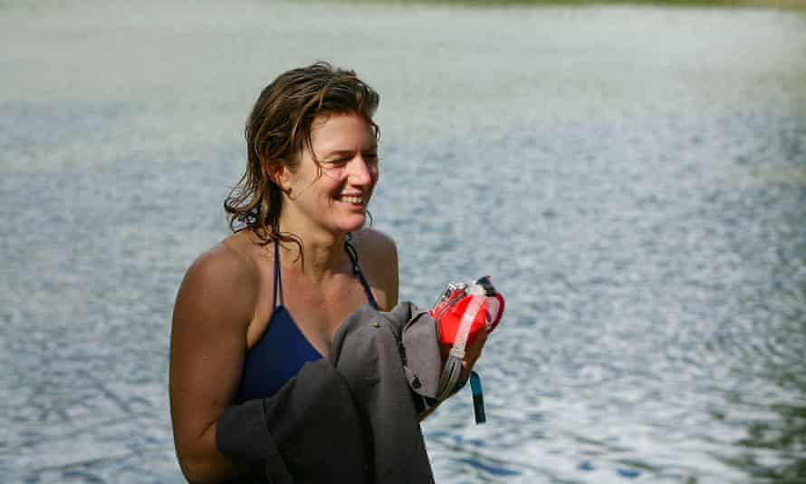 Kate Rew after a swim