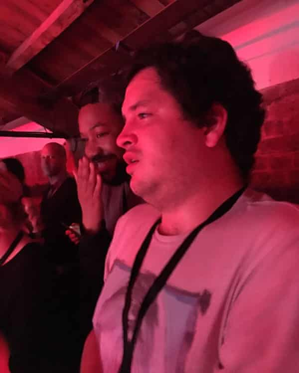 Alim Kheraj witnessing the moment Britney Spears played Work Bitch at the 2016 iTunes festival.