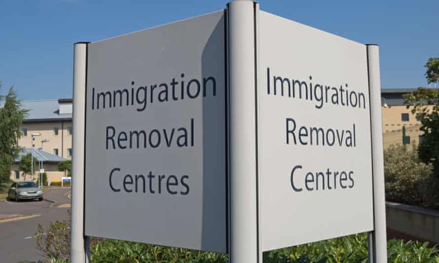 Colnbrook immigration removal centre at Harmondsworth, near Heathrow