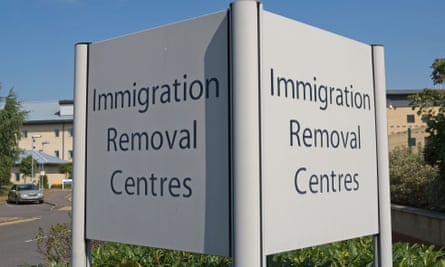 Colnbrook immigration removal centre at Harmondsworth, near Heathrow