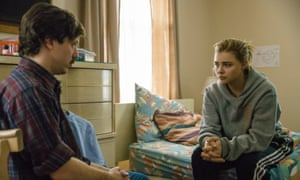 John Gallagher Jr and Chloe Grace Moretz: unflinchingly calm, good-humoured and easily empathetic.