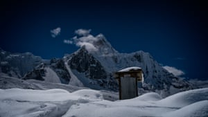 Toilet at the base of 6,812m Ama Dablam, on the trek to Everest base camp