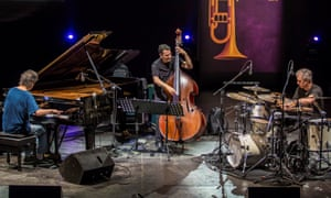 From left, Corea, John Patitucci and Dave Weckl in Murcia, Spain, in July.