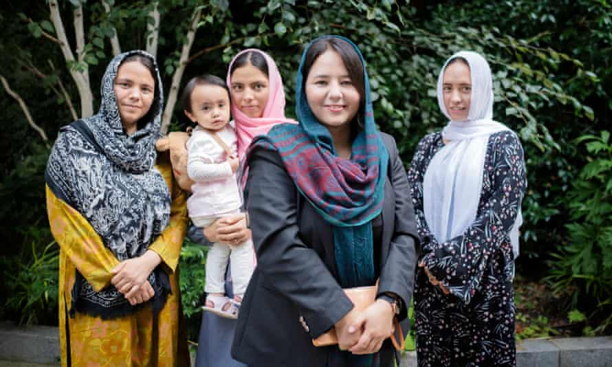 Joya with her sisters and niece