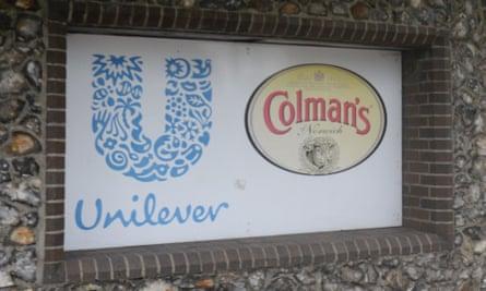 A Colman's Unilever sign