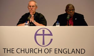 The archbishop of Canterbury, Justin Wlby, left, and the archbishop of Yok, John Sentamu in 2014.