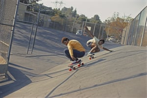 Chuck Askerneese and Marty Grimes at Kenter Canyon, 1975, by Glen E Friedman. Combining archival material with images by the six photographers most closely associated with the sport, the show takes viewers from the empty Californian pools of the 1970s to London's Palace Wayward Boys Choir of the early 2000s