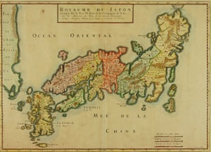 A Jesuit map of Japan, c1650, from Hugh Cortazzi's collection.