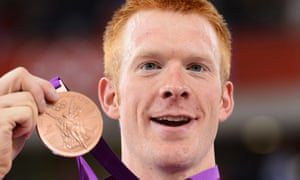 Cyclist Ed Clancy smiling with his London Olympics bronze.
