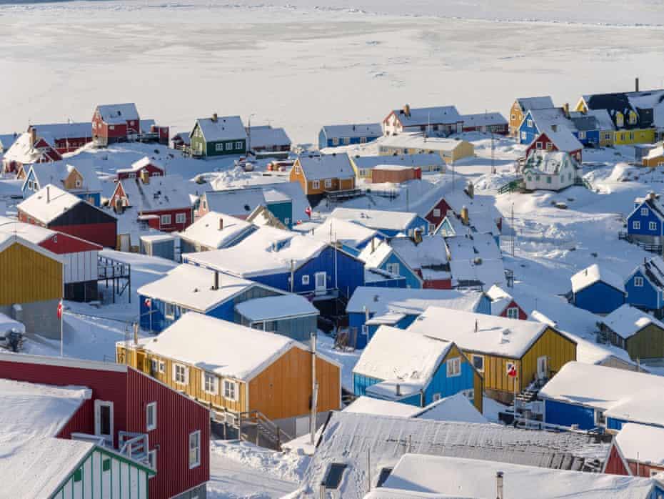 Upernavik, at the shore of Baffin Bay, Greenland.
