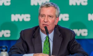 Mayor Bill de Blasio said the city's lawsuit against oil and gas companies is aimed at 'standing up for future generations'.
