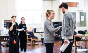 Claire Price and Joseph Arkley rehearse the RSC's Taming of the Shrew.