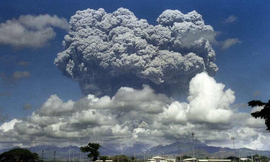Scientists studied a number of volcanic eruptions including Mount Pinatubo in the Philippines.