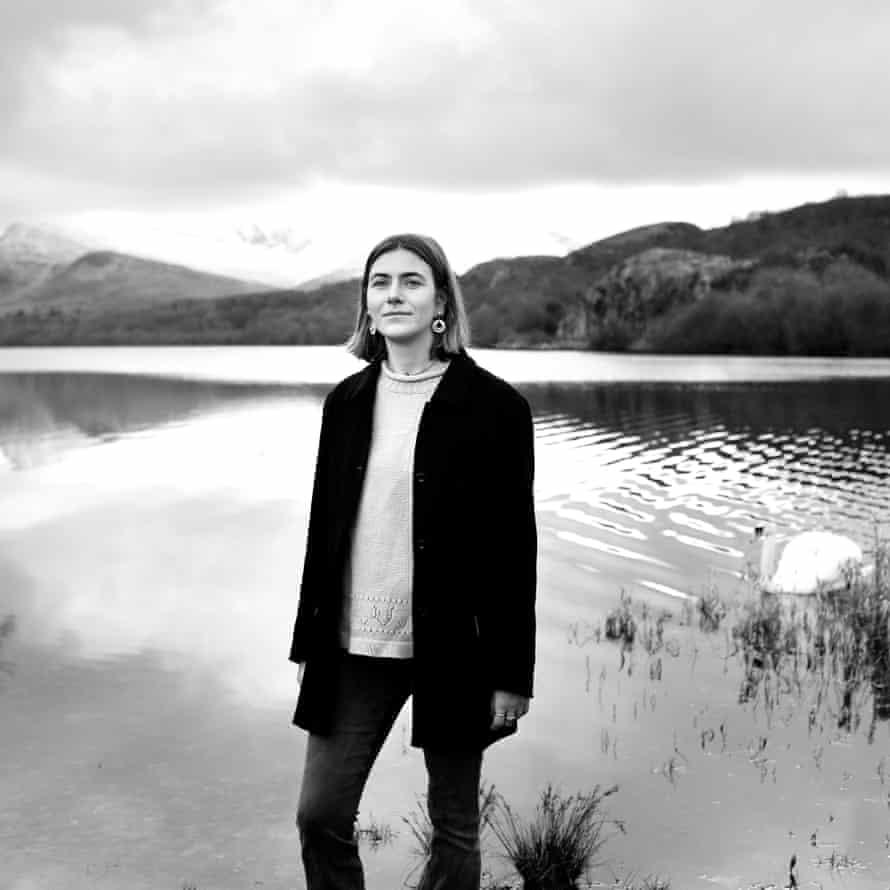 Ailsa Mcfarlane in Llyn Padarn, Llanberis, Snowdonia, 23 January