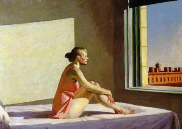 Edward Hopper - Morning Sun, pintura, 1952