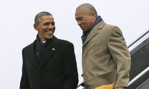 Deval Patrick with Obama in 2014. Patrick is due to make an official announcement later this week.
