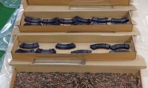Ammunition seized during a raid in Kent