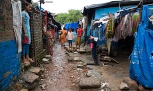 Dwellers in slum, Ahmedabad.