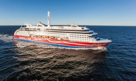 LNG-powered Viking Grace boasts the first ship-based 'rotor sail'.