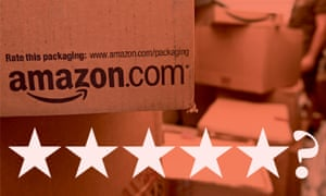 Amazon parcel with five stars layered
