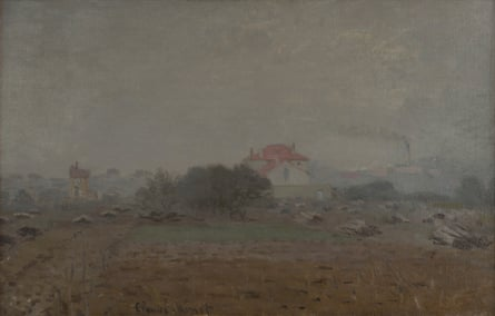 Monet's Effet de Brouillard (1872) depicts Argenteuil, near Paris
