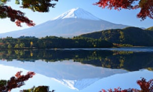 Mount Fuji and autumn foliage at Lake Kawaguchi