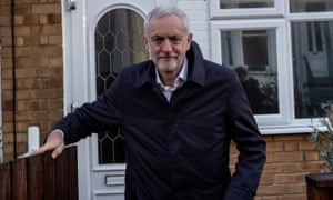 Jeremy Corbyn leaves his house