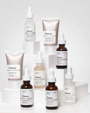 Beauty products by The Ordinary