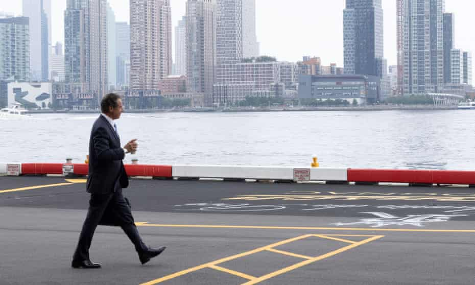 Andrew Cuomo after announcing his resignation in Manhattan, New York City, 10 August 2021.