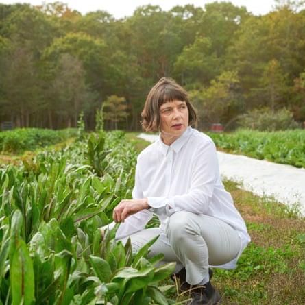 Isabella Rossellini on her Bellport, NY farm.