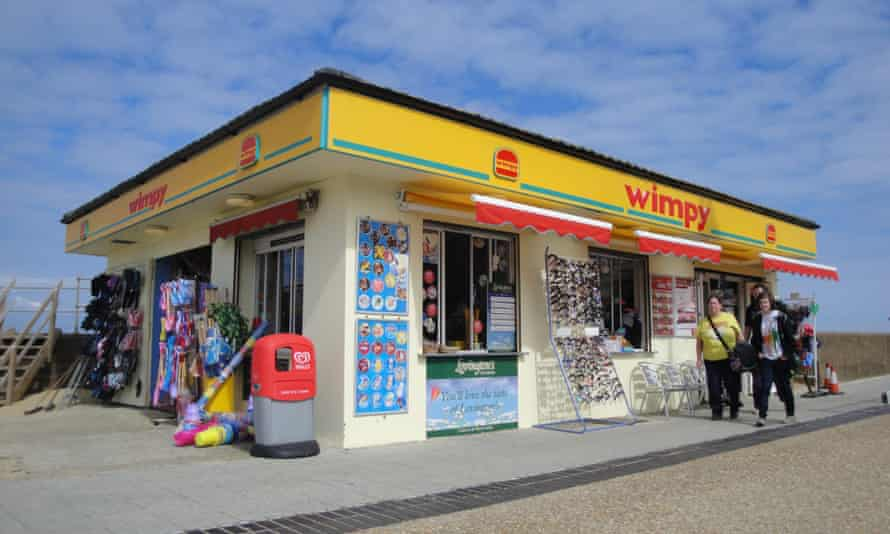 Contemporary Britain … Wimpy on the beach in Ryde
