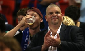 Nathan Tinkler watching the Newcastle Jets football team in New South Wales
