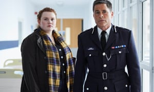 Rob Lowe as Bill Hixon and Bronwyn James as DC Muriel Yeardsley in ITV's ne series Wild Bill.