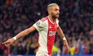 Hakim Ziyech has a contract at Ajax until 2022 but will join Chelsea in July.
