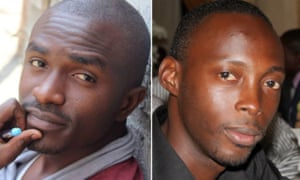 Fred Bauma, left, and Yves Makwambala, who have been imprisoned for more than a year without a trial.