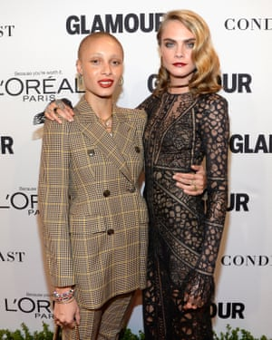 With best friend Cara Delevingne.