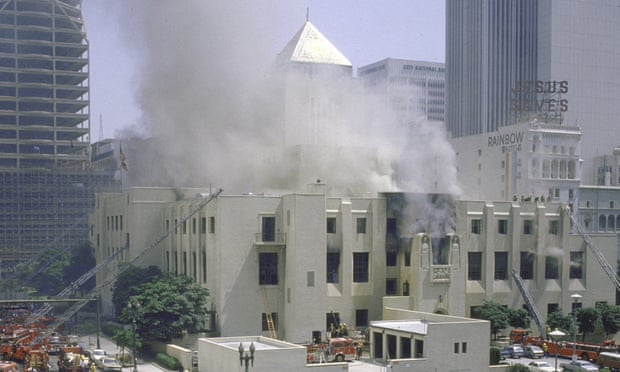 what LA lost when its library burned down, The Guardian