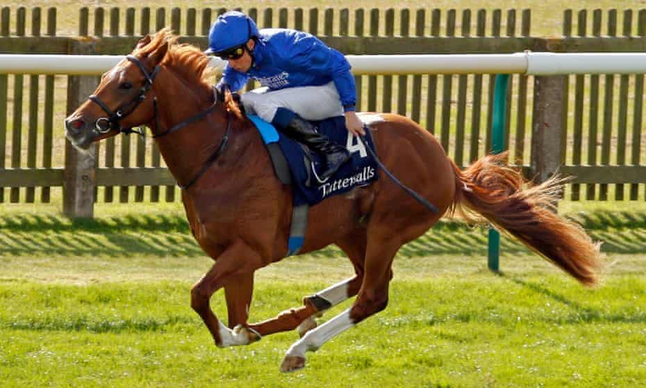 Modern Games completes a comfortable success in the Tattersalls Stakes at Newmarket.