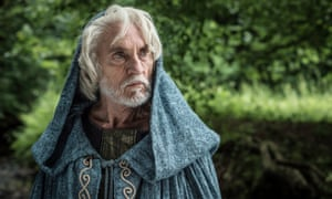 Imparts mystical pearls of gobbledygook … Terence Stamp in Of Gods and Warriors
