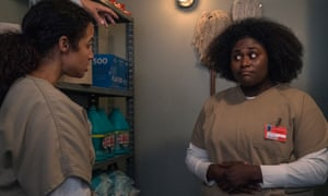 Blanca (Laura Gómez) and Taystee (Tasha Jefferson) in Orange Is the New Black.