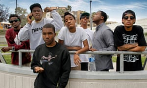 Carving out a new space .... Odd Future in 2011, left to right: Mike G, Tyler the Creator, Frank Ocean, Syd, Left Brain, Domo Genesis and Hodgy Beats.