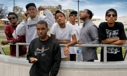 Members of the Odd Future collective (from left) Mike G; Tyler, the Creator; Frank Ocean; Syd the Kyd; Left Brain; Domo Genesis; MC Hodgy Beats